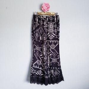 3 FOR $15 Billabong Tribal Lace Palazzo Pants